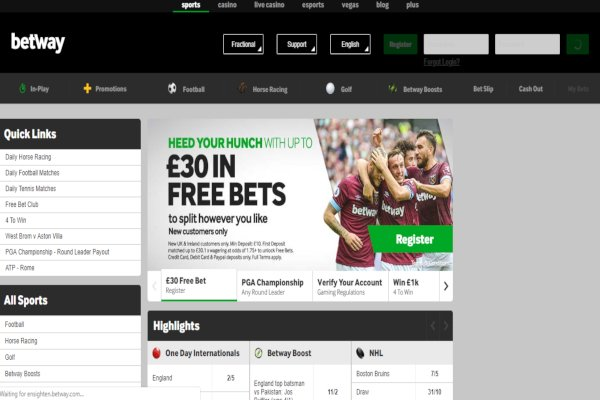 Betway new customer bonus