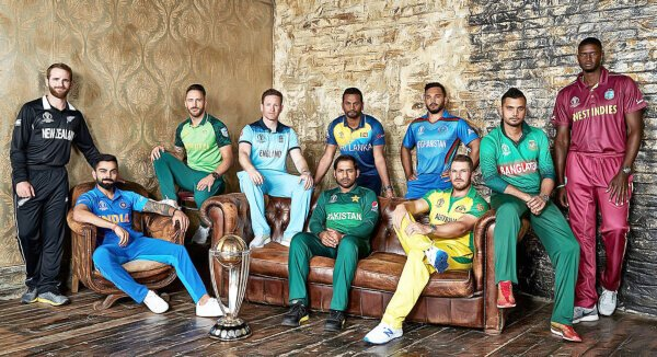 The ten 2019 ICC Cricket World Cup captains