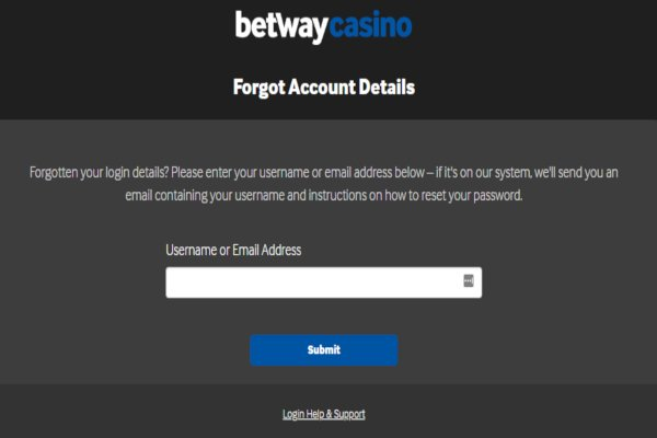 Betway account recovery