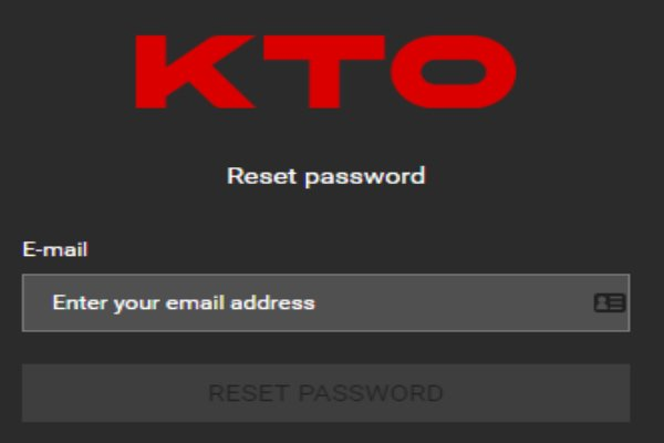 KTO password reset