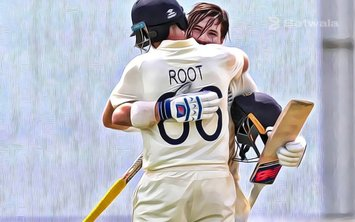 Rory Burns Congratulates Joe Root in First Test Century