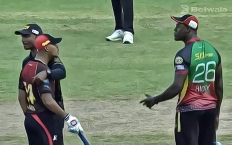Carlos Brathwaite and Lendl Simmons Argued During Eliminator